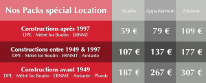 diagnostic immobilier pack location